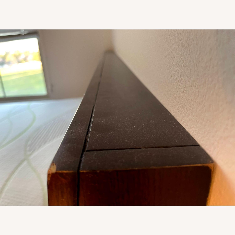 Queen Platform Bed - Solid Brown Wood - image-3