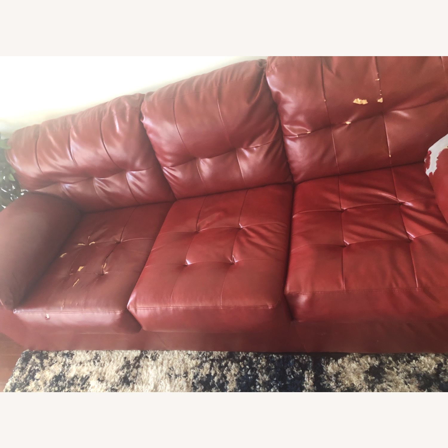Red Leather Sofa - image-14