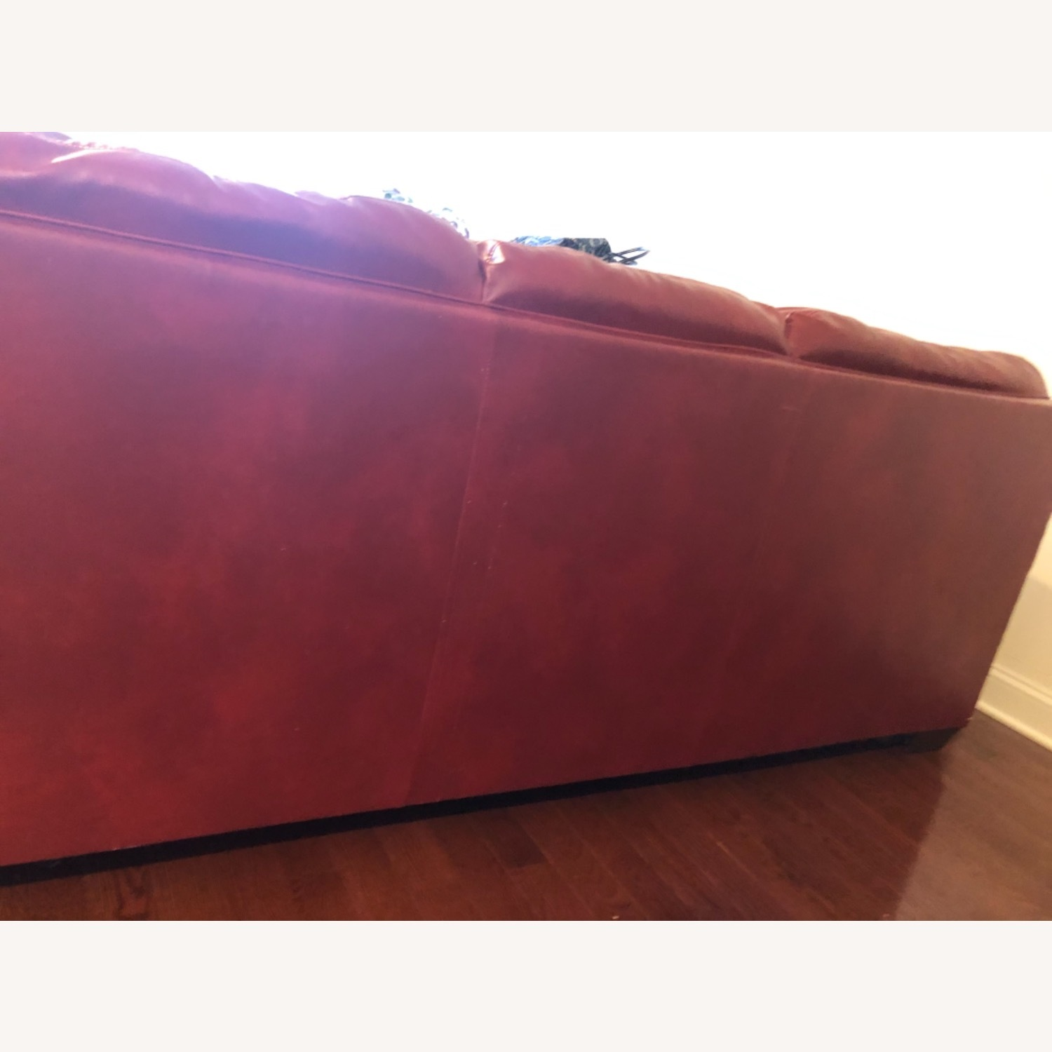 Red Leather Sofa - image-8