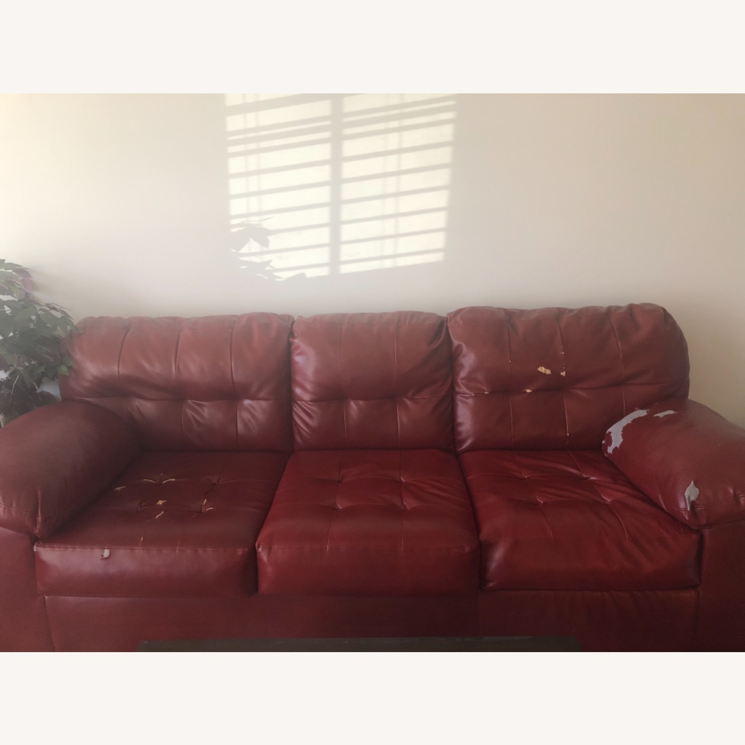 Red Leather Sofa - image-12