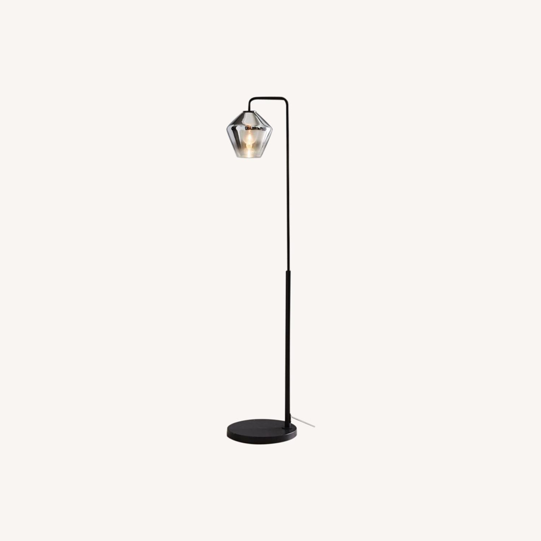 West Elm Sculptural Glass Geo Floor Lamp - image-0