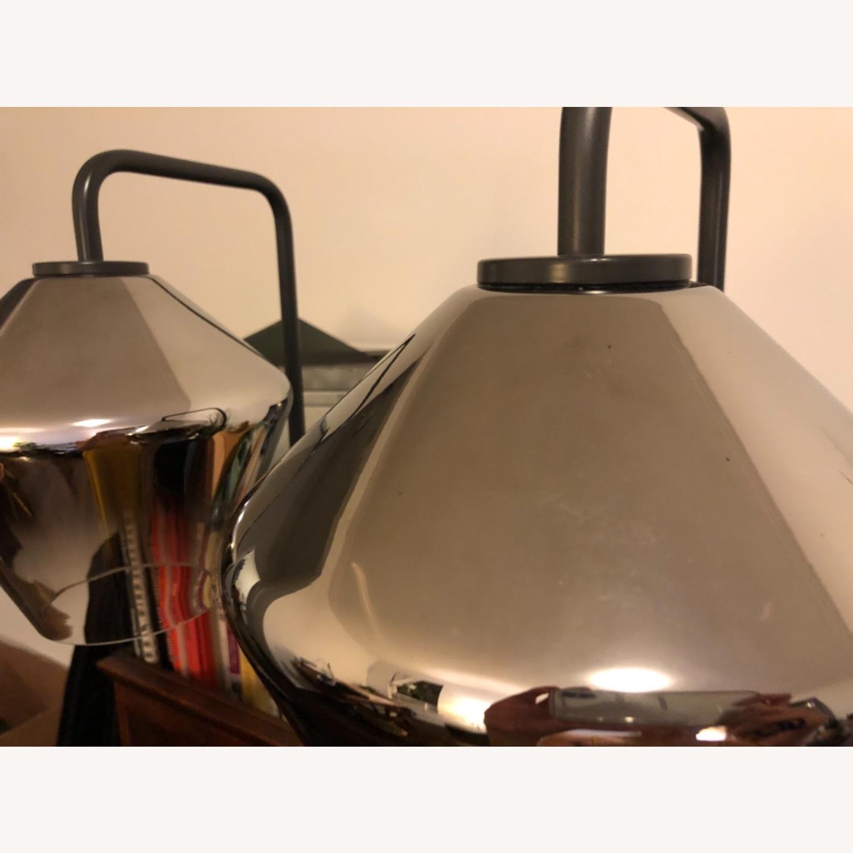 West Elm Sculptural Glass Geo Floor Lamp - image-4