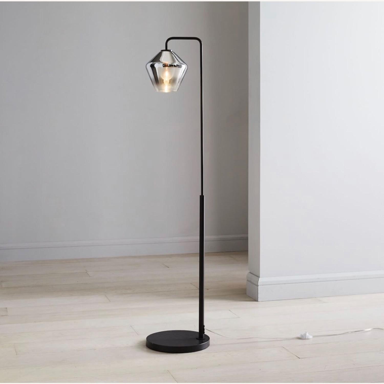 West Elm Sculptural Glass Geo Floor Lamp - image-1