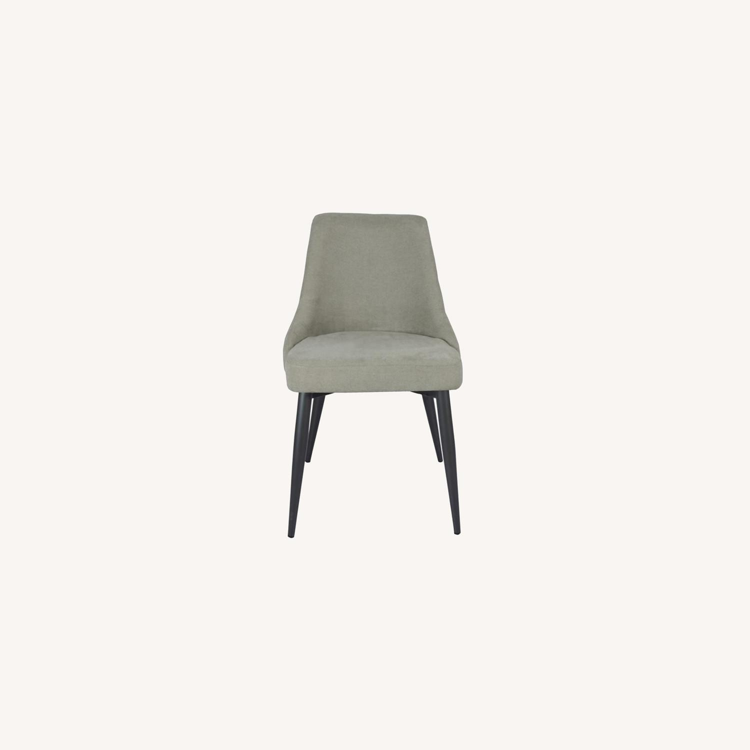 Dining Chair In Off White Microfiber W/Curved Back - image-7