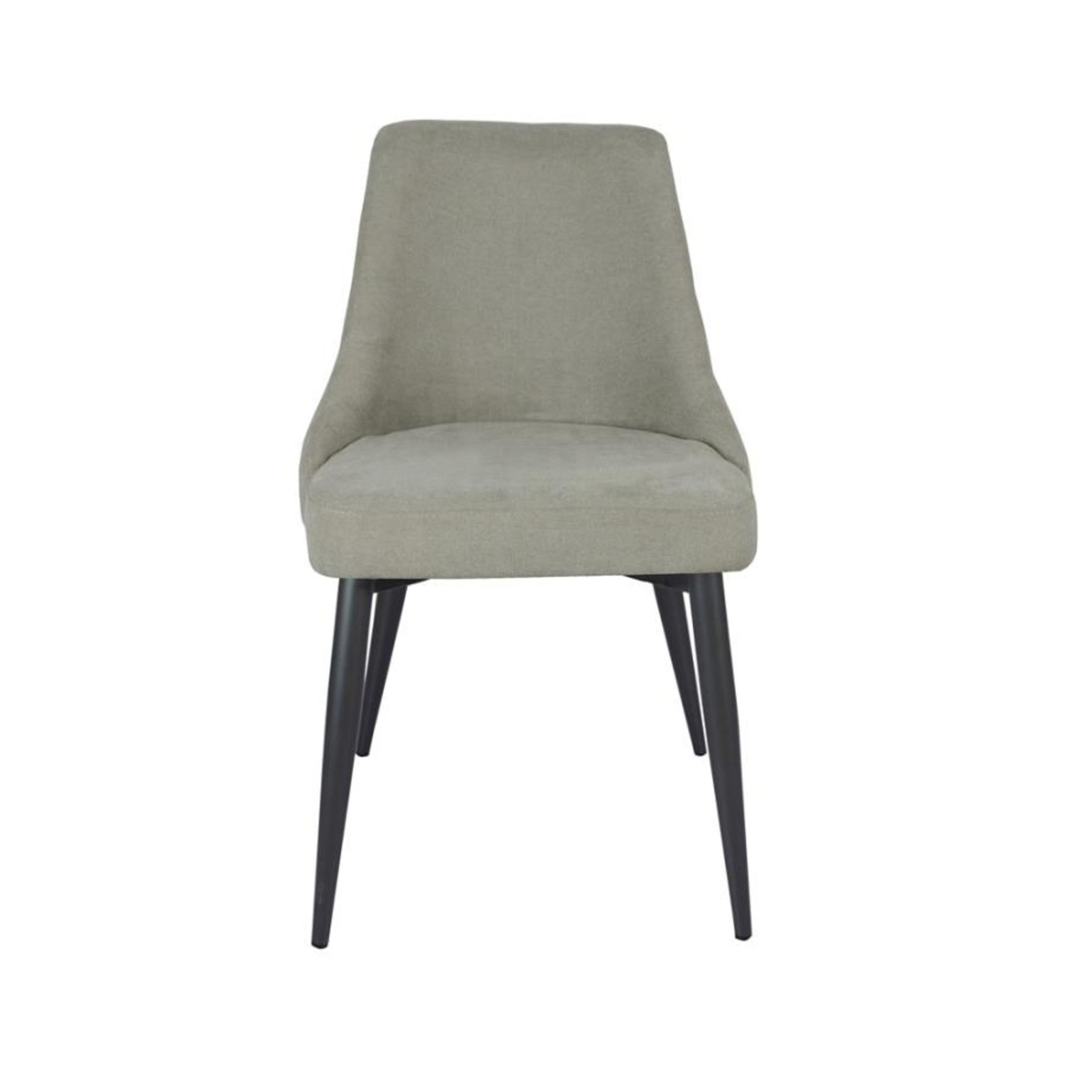 Dining Chair In Off White Microfiber W/Curved Back - image-0