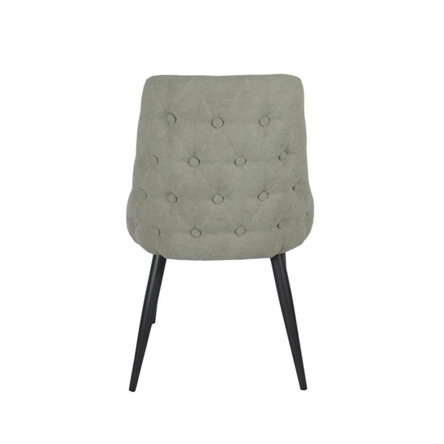 Dining Chair In Off White Microfiber W/Curved Back - image-3