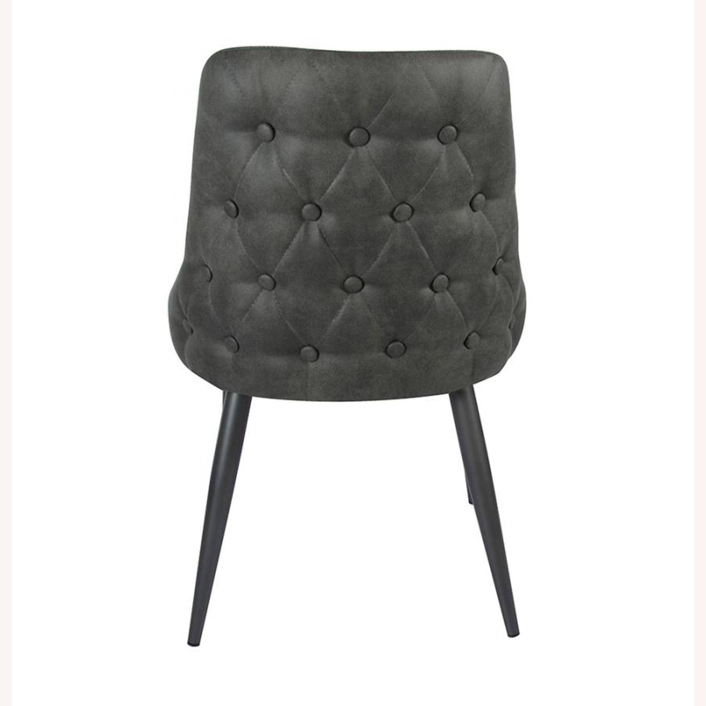 Dining Chair In Light Grey Microfiber & Gunmetal - image-3
