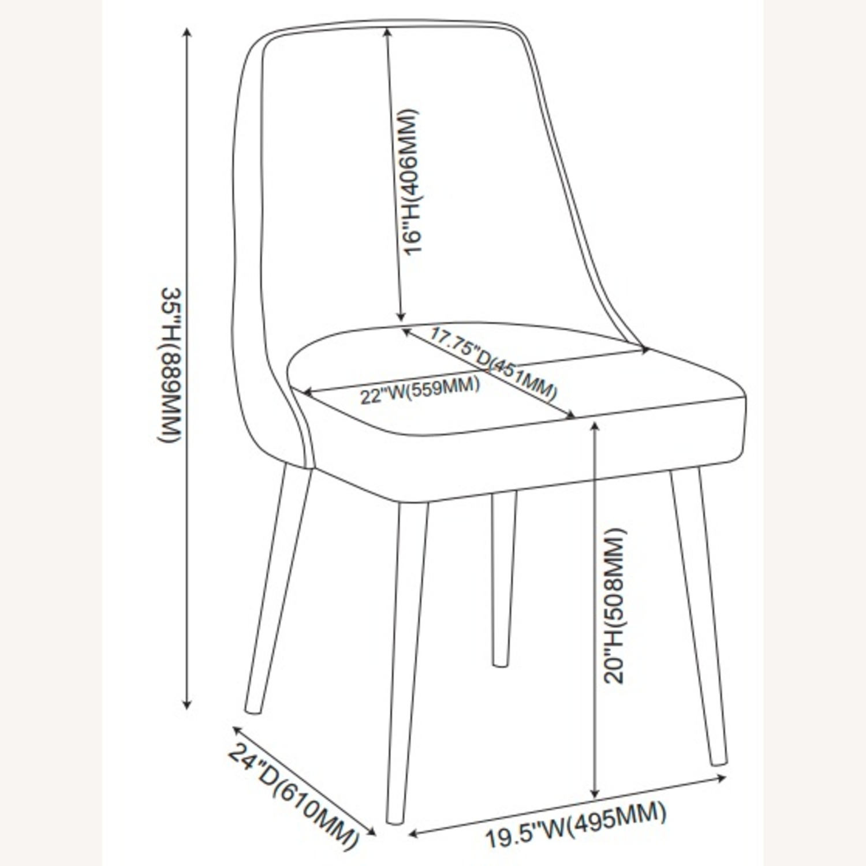 Dining Chair In Light Grey Microfiber & Gunmetal - image-6