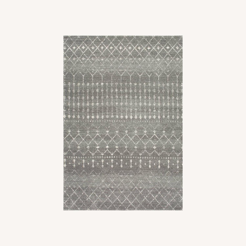 Wayfair Geometric Design Dark Gray Area Rug - image-0