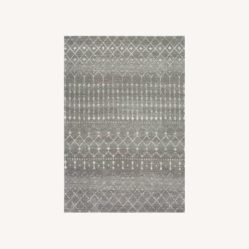 Used Wayfair Geometric Design Dark Gray Area Rug for sale on AptDeco