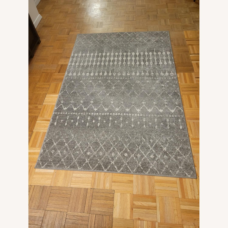 Wayfair Geometric Design Dark Gray Area Rug - image-2