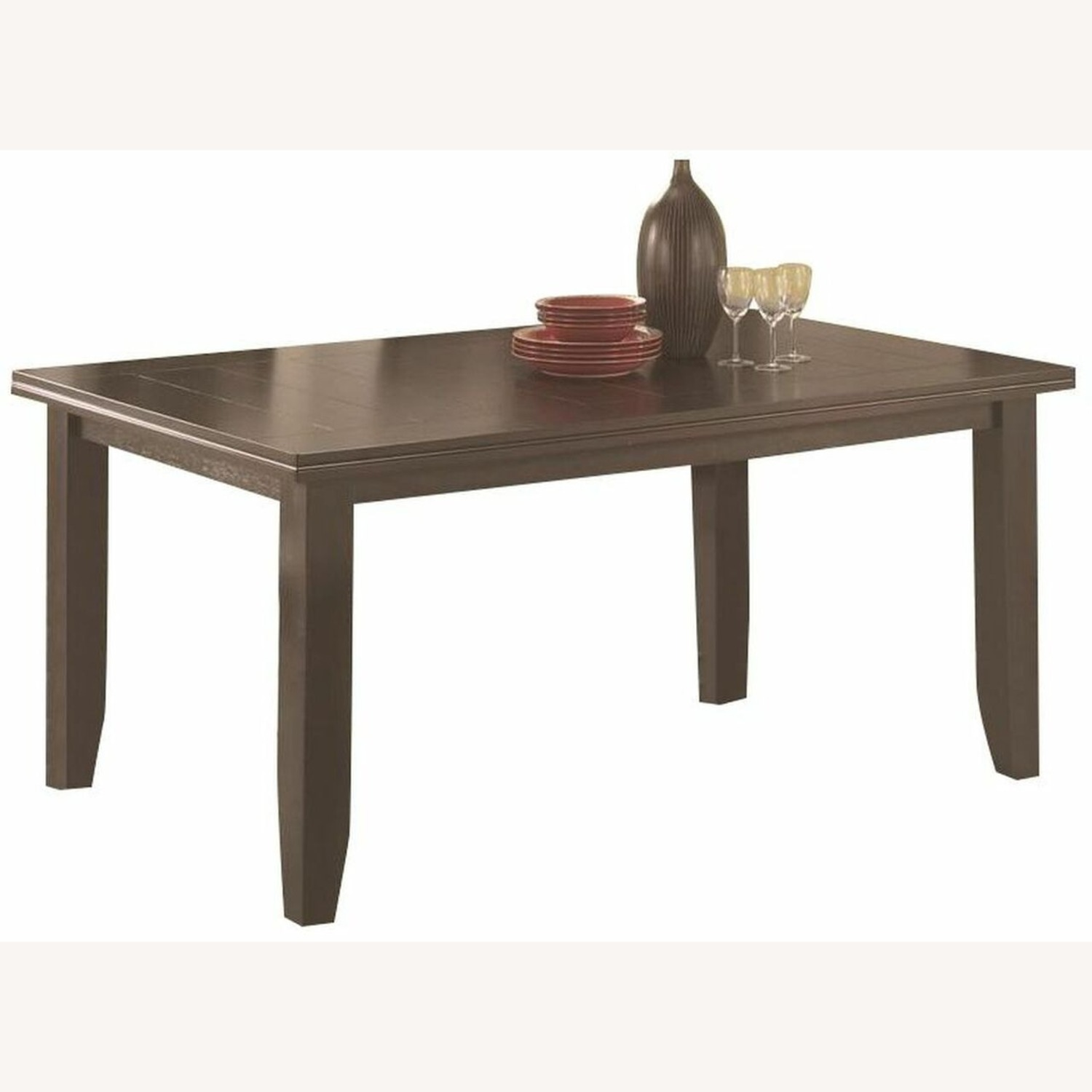 Dining Table In Cappuccino W/ Plank Style Tabletop - image-1