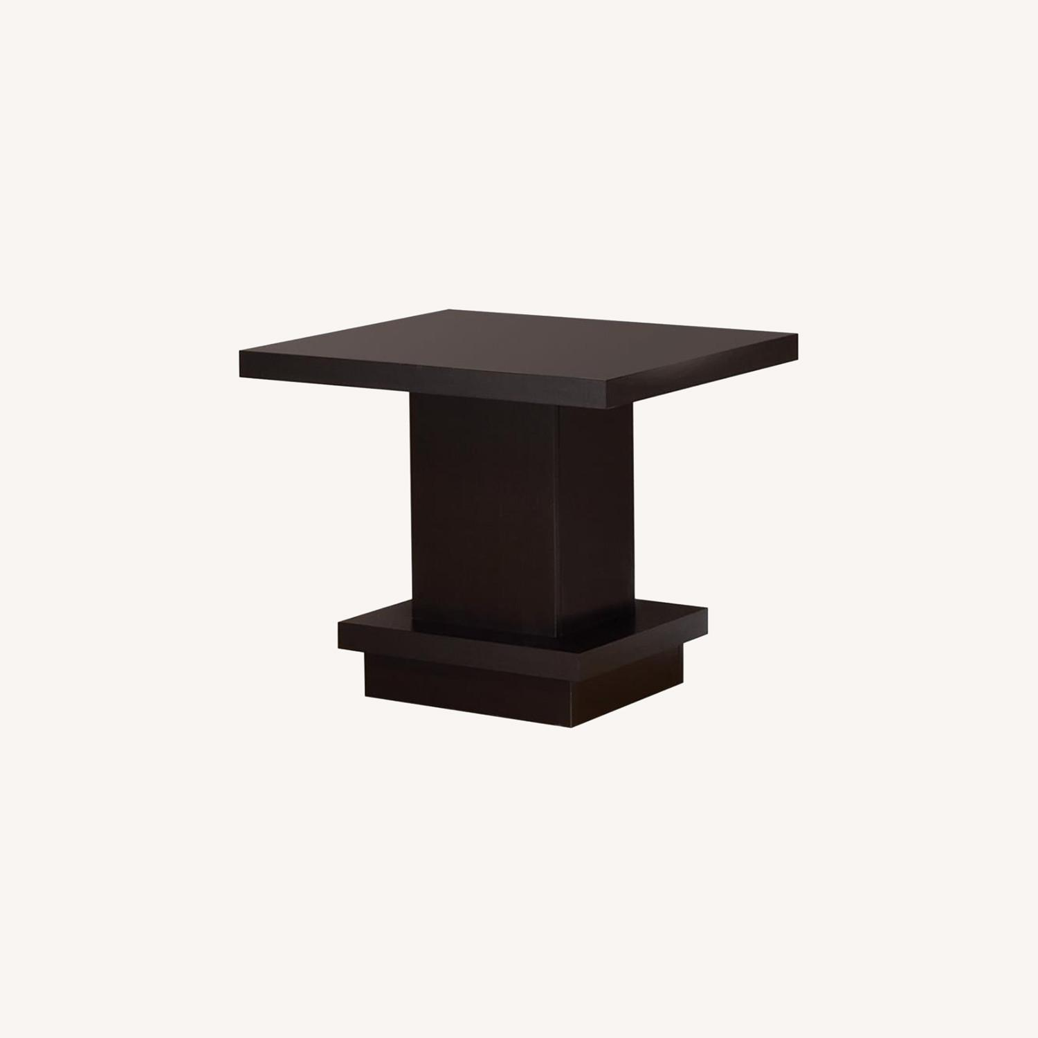 End Table In Warm Cappuccino Finish - image-5