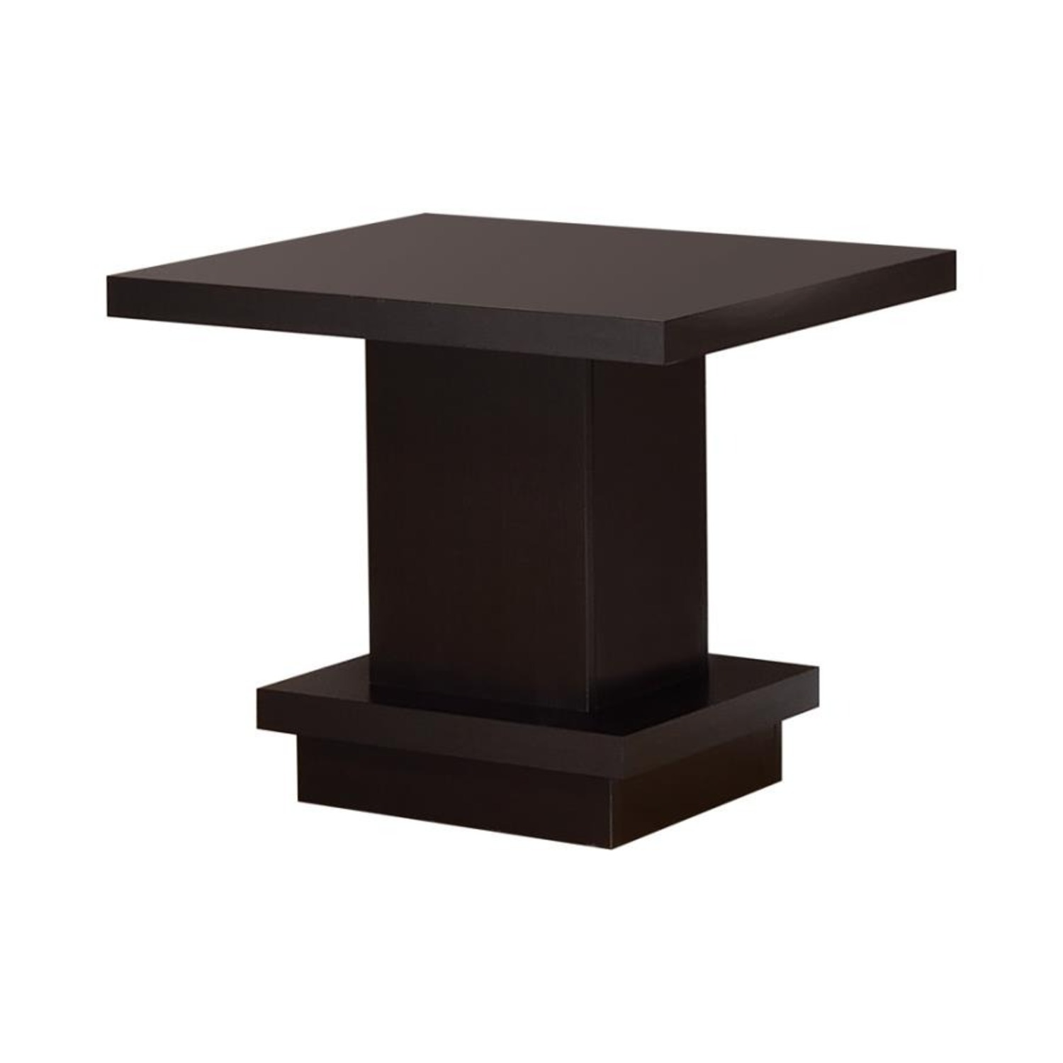 End Table In Warm Cappuccino Finish - image-0