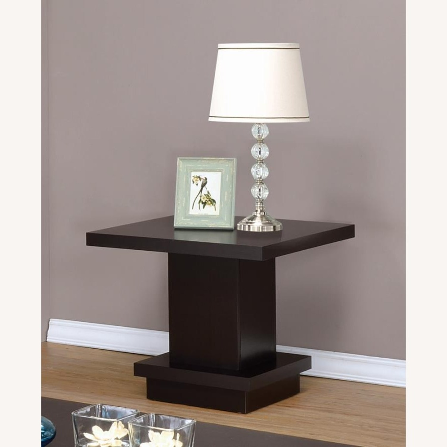 End Table In Warm Cappuccino Finish - image-2