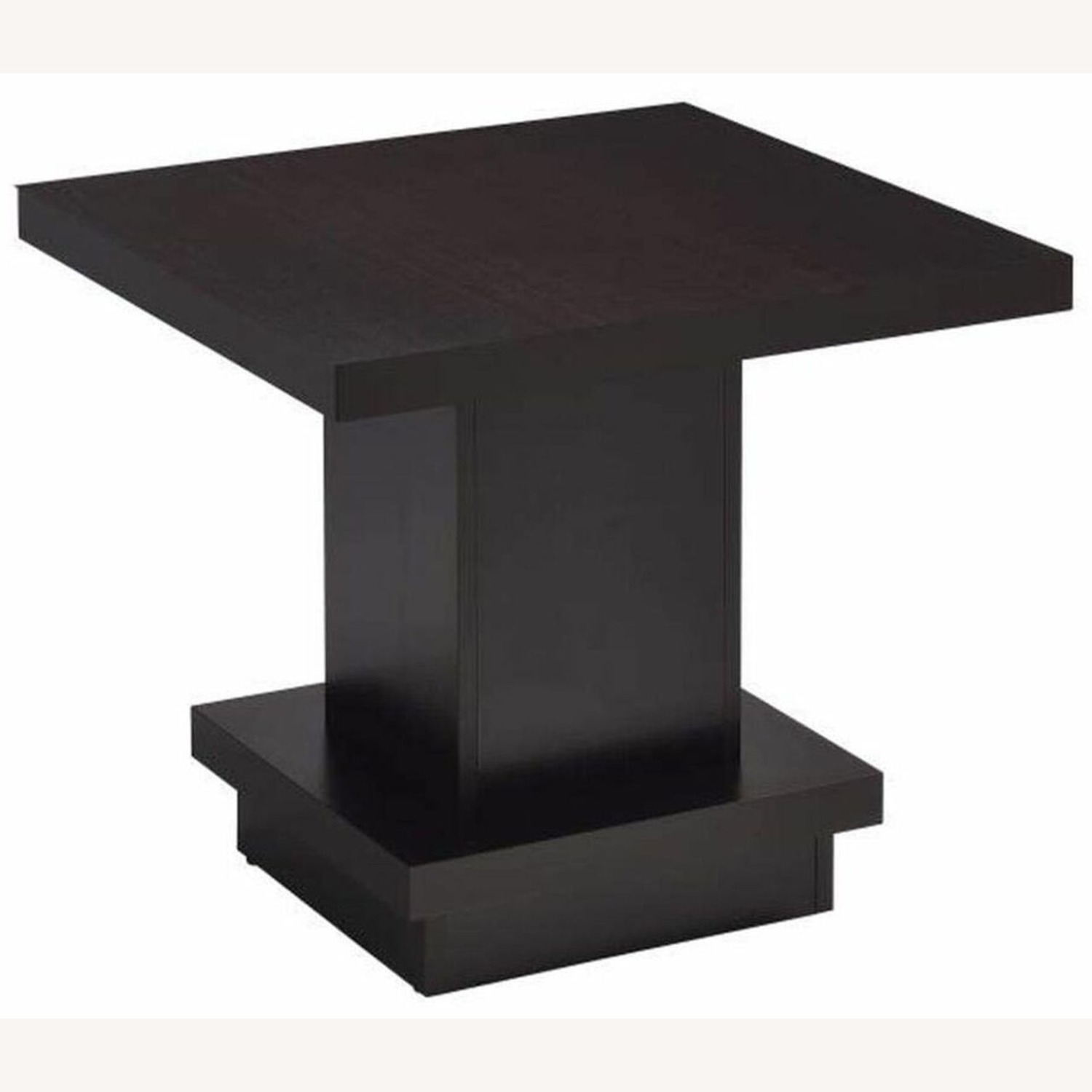 End Table In Warm Cappuccino Finish - image-1