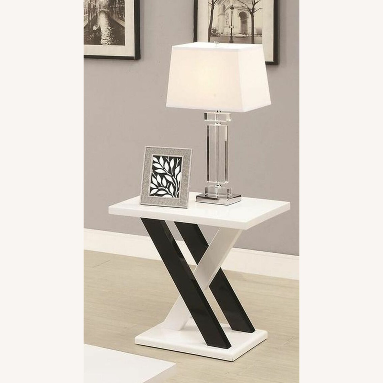 3-Piece Occasional Set In Glossy White Finish - image-2