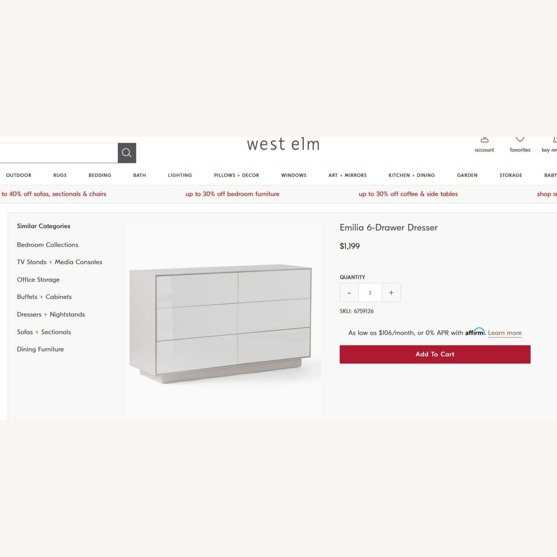 West Elm Emilia 6 Drawer Dresser - image-1