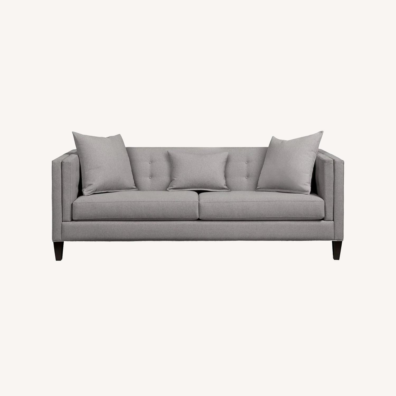 Macys Braylei 88 Grey Fabric Sofa - image-0