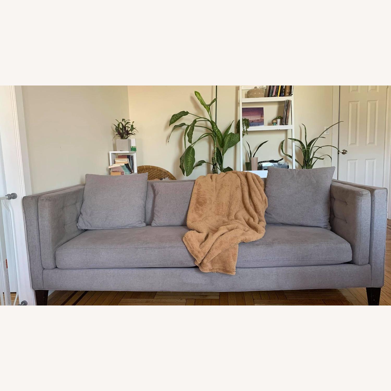 Macys Braylei 88 Grey Fabric Sofa - image-2