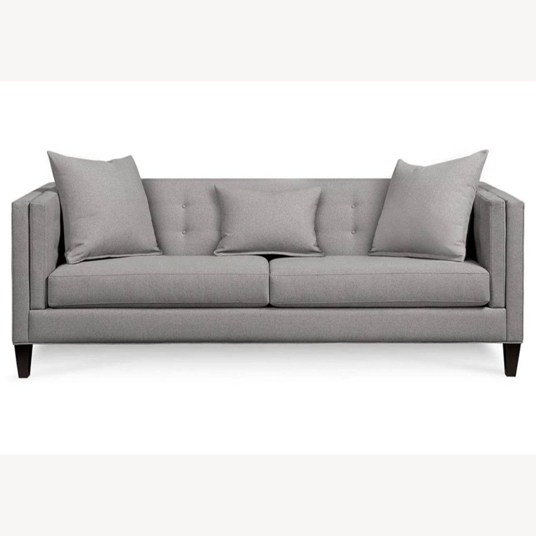 Macys Braylei 88 Grey Fabric Sofa - image-1