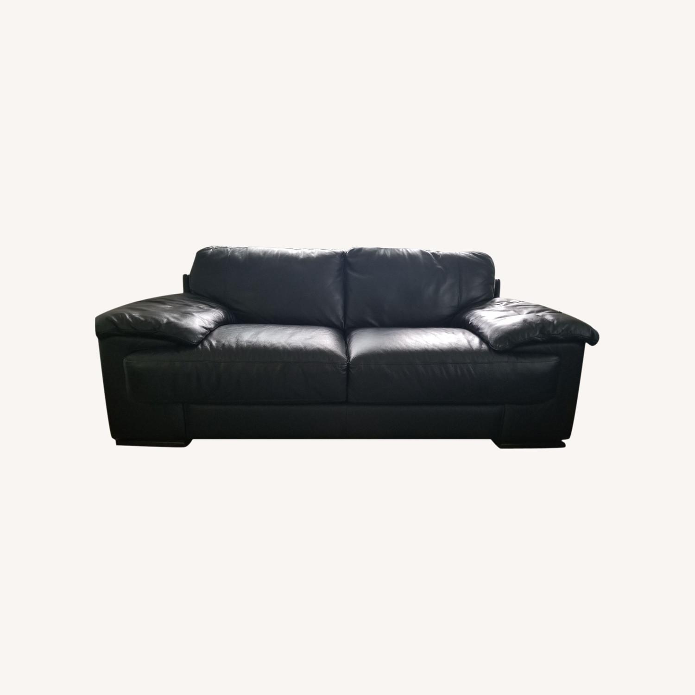 Leather 2 seat Sofa - image-0