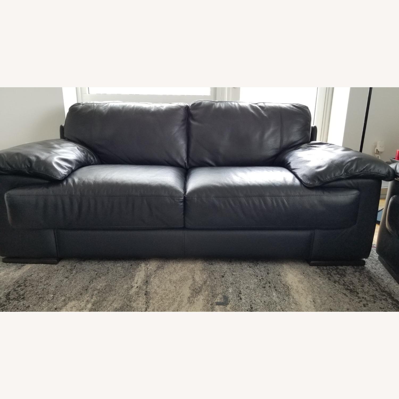 Leather 2 seat Sofa - image-2