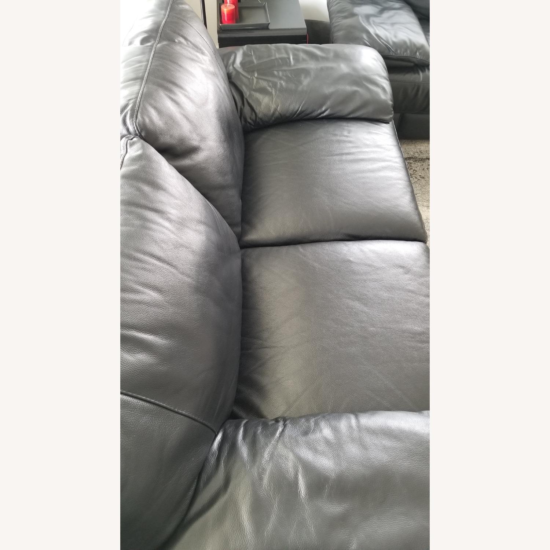 Leather 2 seat Sofa - image-7