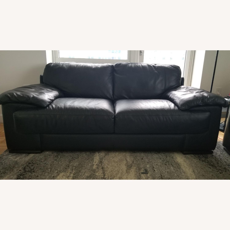 Leather 2 seat Sofa - image-1