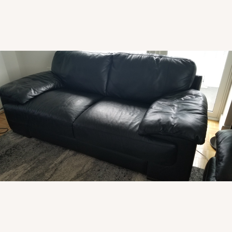 Leather 2 seat Sofa - image-6