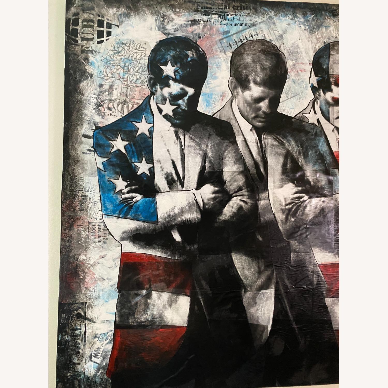 Commissioned mix media art of John F Kennedy - image-2