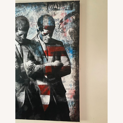 Used Commissioned mix media art of John F Kennedy for sale on AptDeco