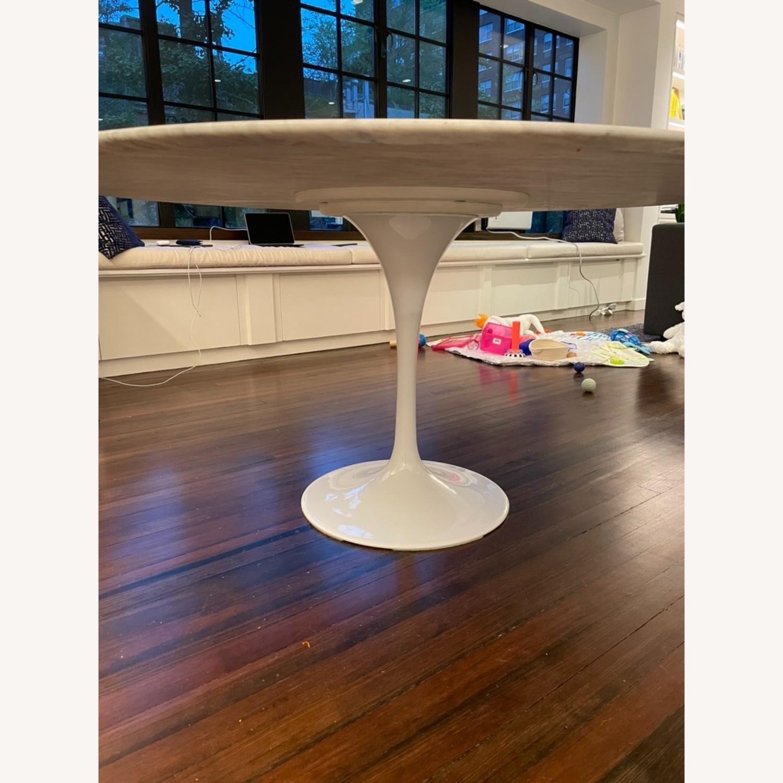 60 Carrara Marble Tulip Dining Table - image-2
