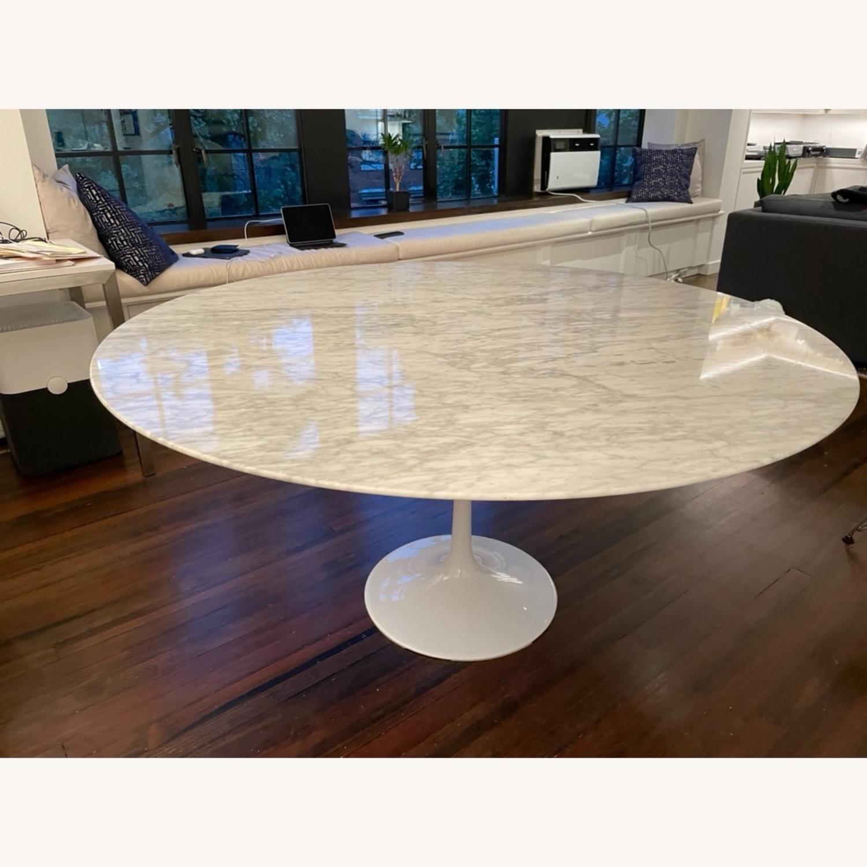 60 Carrara Marble Tulip Dining Table - image-1