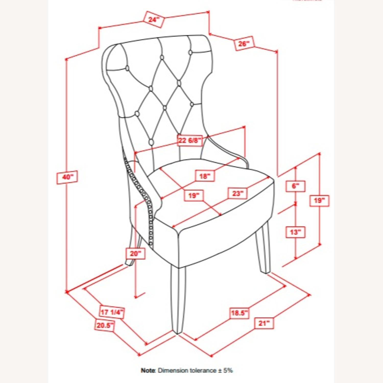 Side Chair In Grey Fabric & Rustic Smoke Finish - image-8