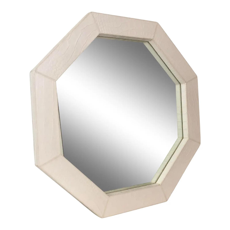 Jonathan Adler Preston White Snakeskin Mirror - image-1