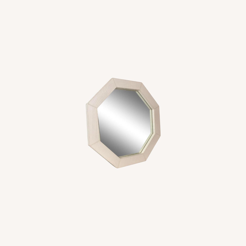 Jonathan Adler Preston White Snakeskin Mirror - image-0