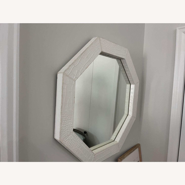Jonathan Adler Preston White Snakeskin Mirror - image-3