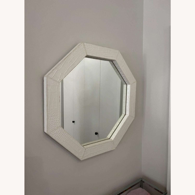 Jonathan Adler Preston White Snakeskin Mirror - image-2