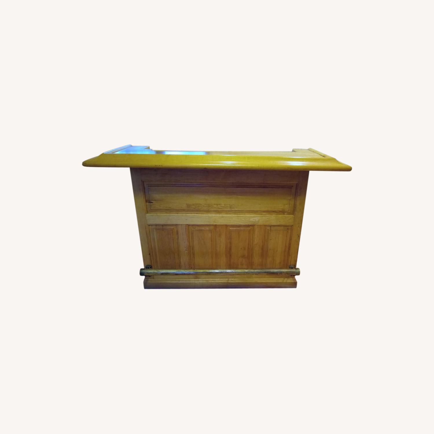 Solid Maple Home Bar - image-0