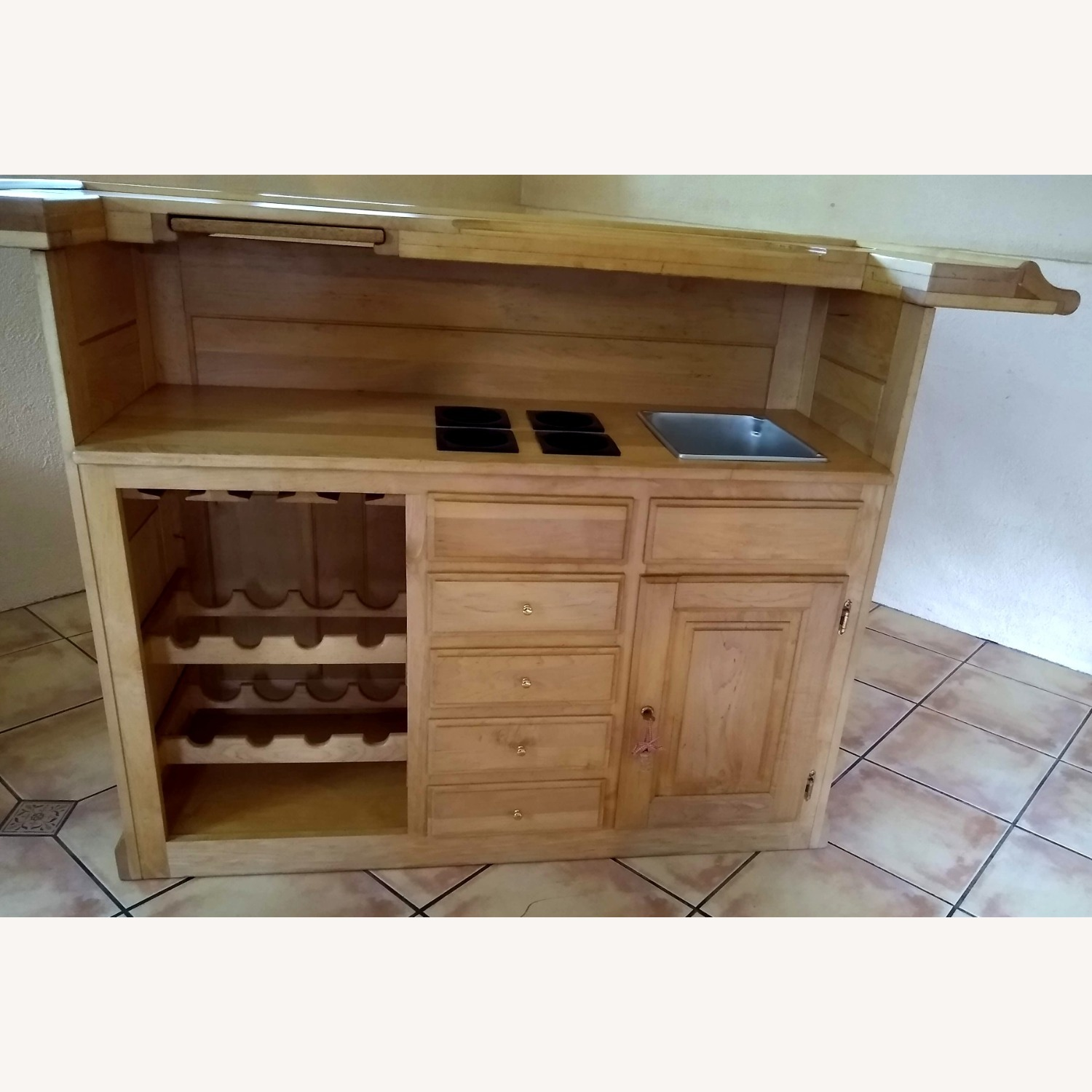 Solid Maple Home Bar - image-4
