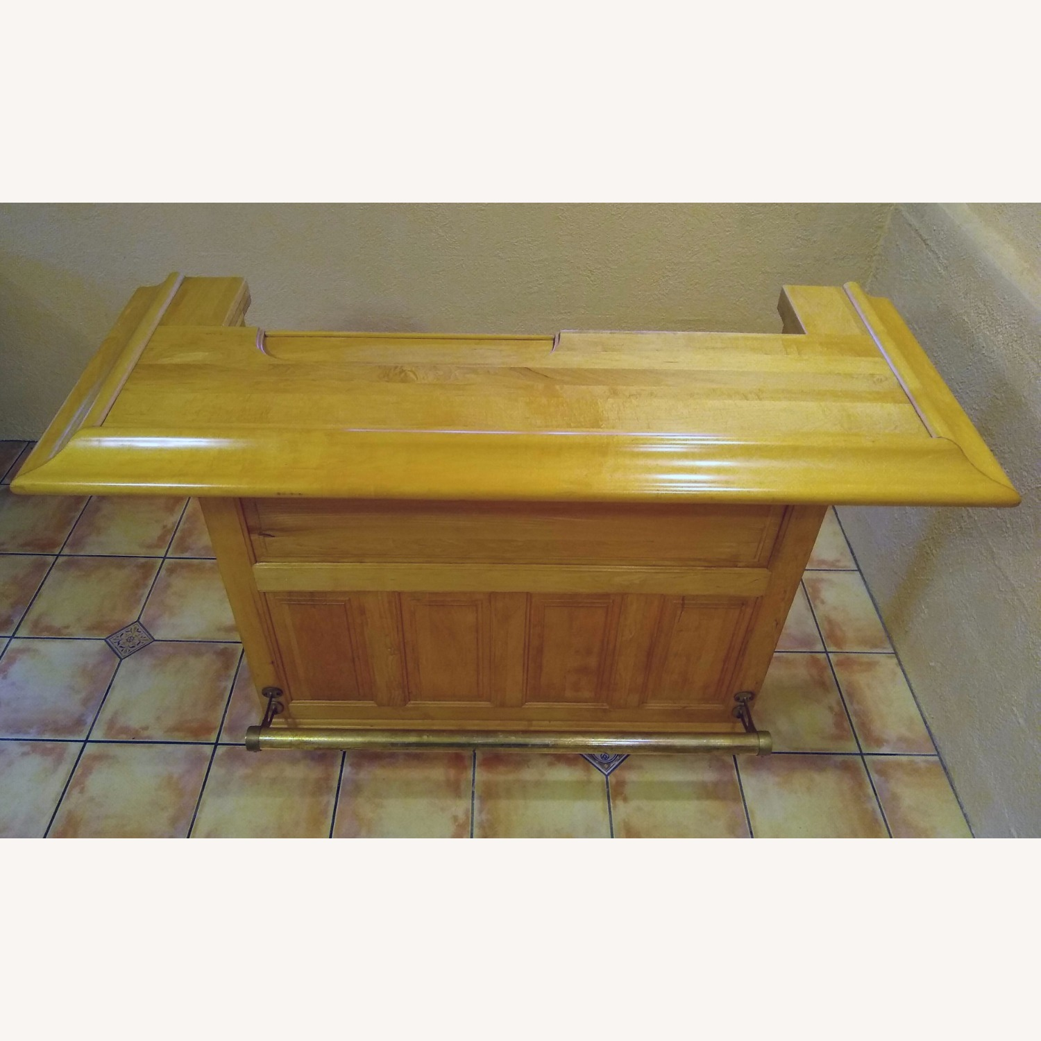 Solid Maple Home Bar - image-1
