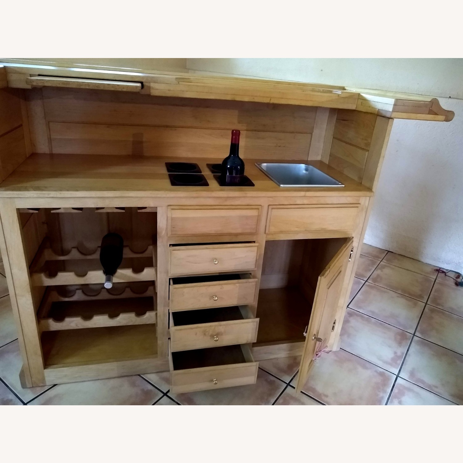 Solid Maple Home Bar - image-5
