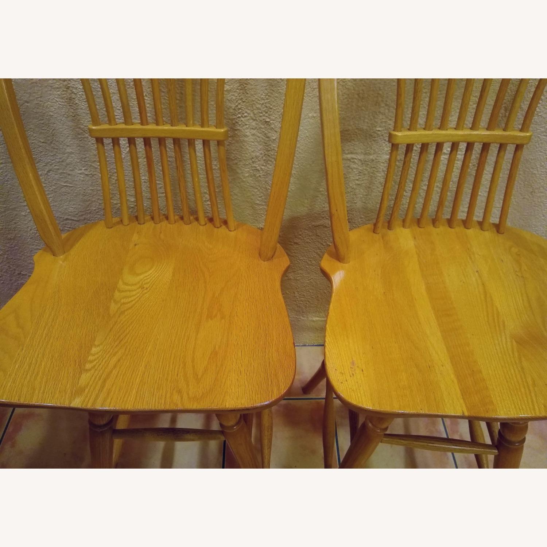 Amish Wheat Sheaf Bow Back Bar Stool in Solid Oak - image-4