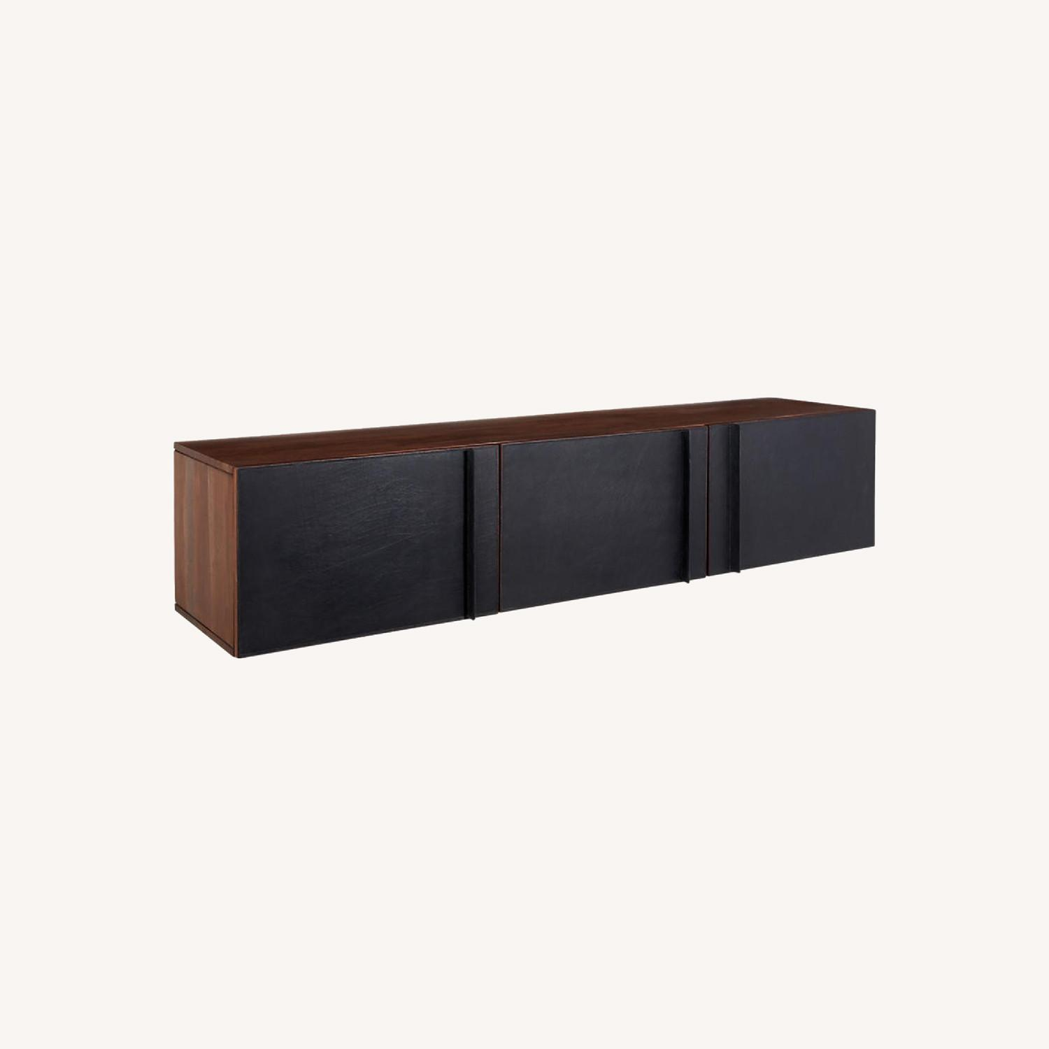 Gather Black Leather Wall Mounted Storage Cabinet - image-7