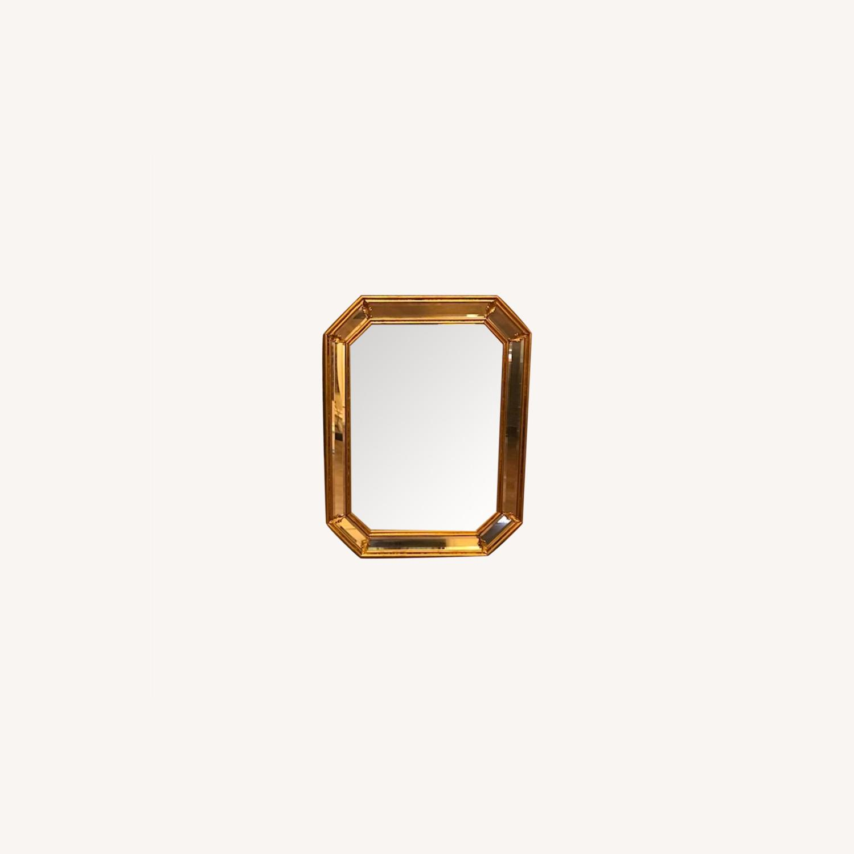 Vintage Pair Italian Beveled Mirrors - image-0
