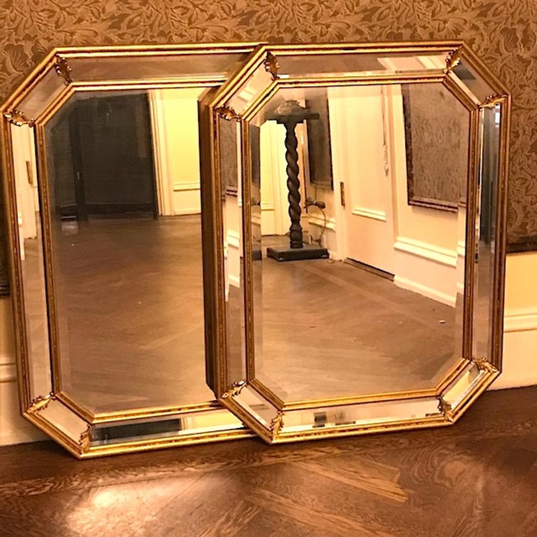Vintage Pair Italian Beveled Mirrors - image-1