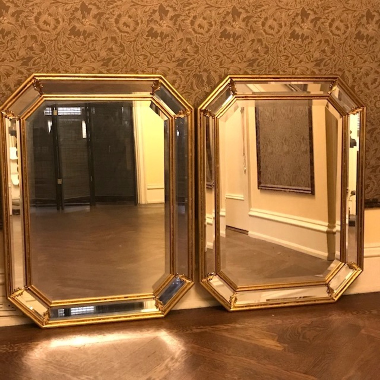 Vintage Pair Italian Beveled Mirrors - image-4