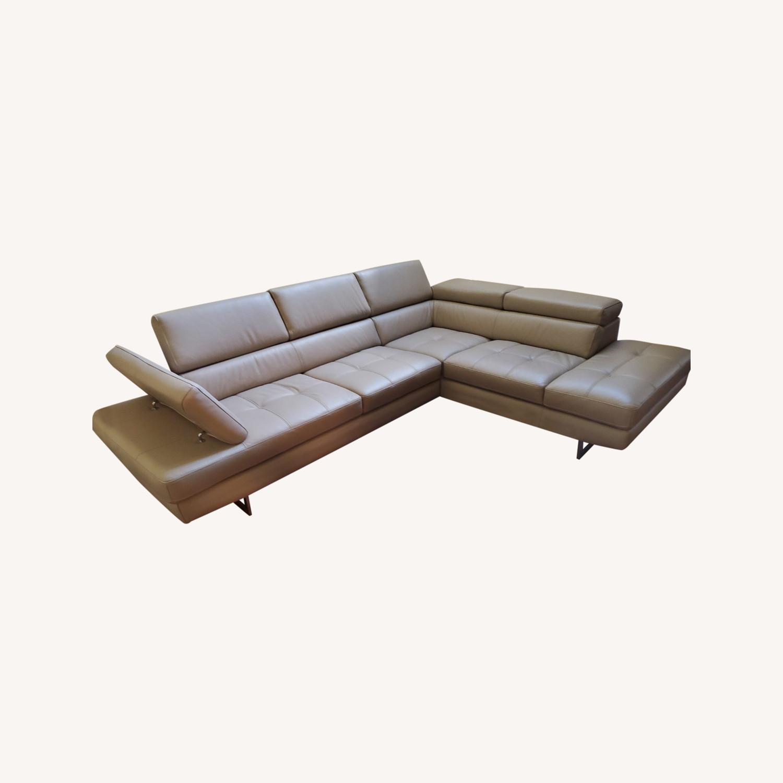 Italian Leather Sectional - image-0