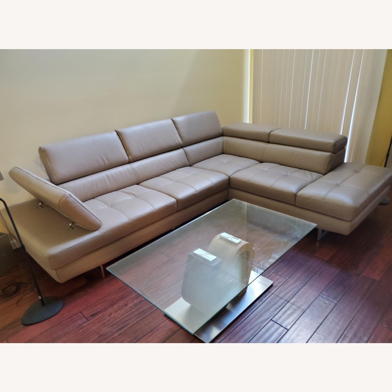 Italian Leather Sectional - image-2